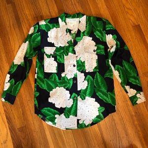 Vivid Colors, Shoulder Pads 80s Silk Shirt